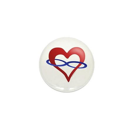 Infinite Love Heart Mini Button (10 pack)
