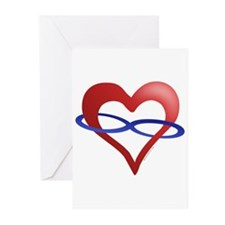 Infinite Love Heart Greeting Cards (Pk of 10)