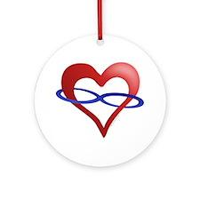 Infinite Love Heart Ornament (Round)