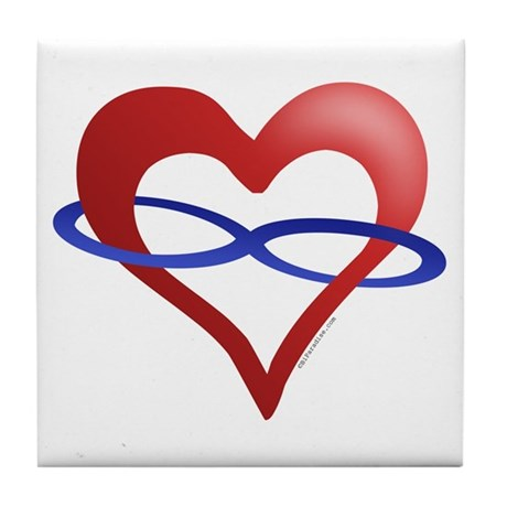Infinite Love Heart Tile Coaster