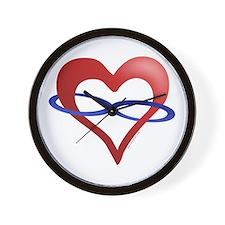 Infinite Love Heart Wall Clock