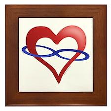 Infinite Love Heart Framed Tile