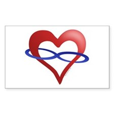 Infinite Love Heart Rectangle Decal