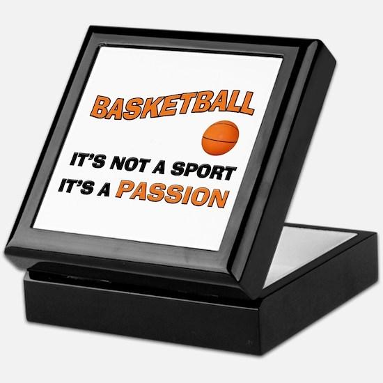 Basketball It's a Passion Keepsake Box