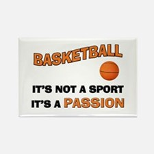 Basketball It's a Passion Rectangle Magnet