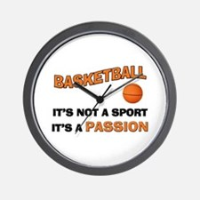 Basketball It's a Passion Wall Clock