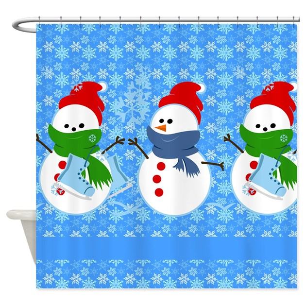 Snowman And Snowflakes Shower Curtain By Stolenmomentsph
