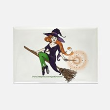 the redheaded witch Rectangle Magnet (100 pack)
