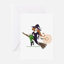 the redheaded witch  Greeting Cards (Pk of 10)