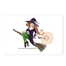 the redheaded witch  Postcards (Package of 8)