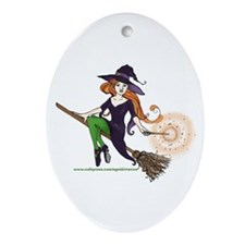 the redheaded witch  Oval Ornament