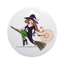 the redheaded witch  Ornament (Round)