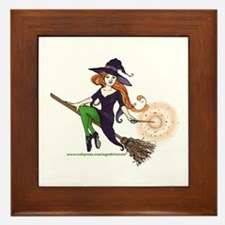the redheaded witch  Framed Tile