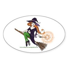 the redheaded witch Oval Decal