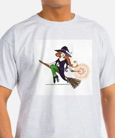 the redheaded witch  Ash Grey T-Shirt