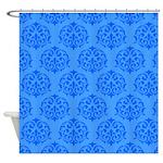Blue Victorian Pattern Shower Curtain