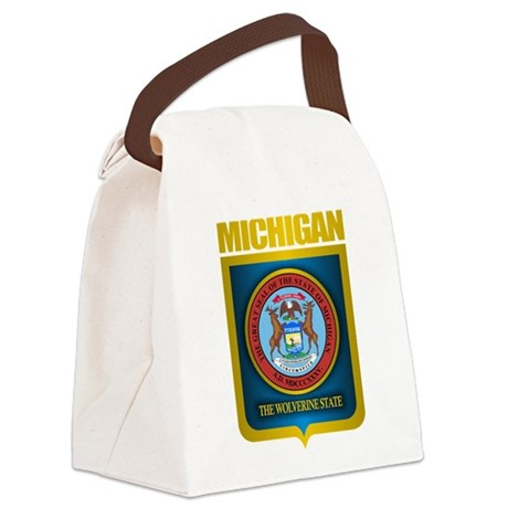 Michigan Gold Label Canvas Lunch Bag