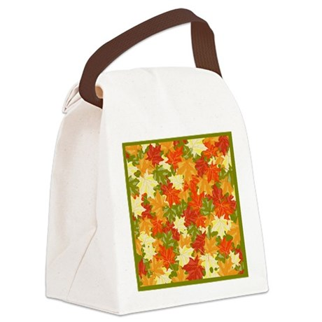 FALL LEAVES Canvas Lunch Bag