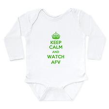 Keep Calm and Watch AFV Long Sleeve Infant Bodysui