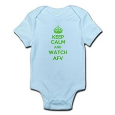 Keep Calm and Watch AFV Infant Bodysuit