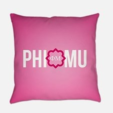 Phi Mu Letters Everyday Pillow