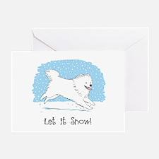 Eskie Let it Snow Dog Greeting Card
