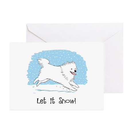 Eskie Let it Snow Dog Greeting Cards (Pk of 10)