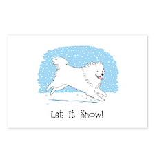 Eskie Let it Snow Dog Postcards (Package of 8)