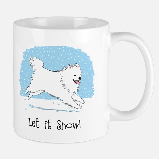 Eskie Let it Snow Dog Mug