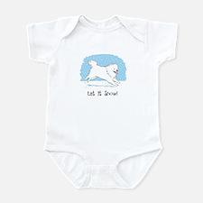 Eskie Let it Snow Dog Infant Bodysuit