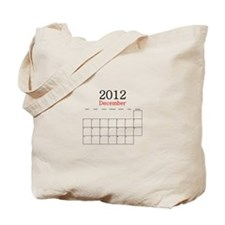 December 2012 Calendar Tote Bag