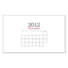 December 2012 Calendar Decal