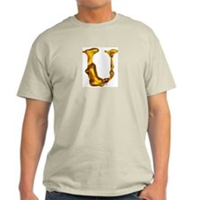 Blown Gold U Ash Grey T-Shirt