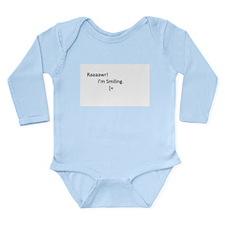 Raaaawr! I'm Smiling Long Sleeve Infant Bodysuit