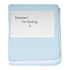 Raaaawr! I'm Smiling baby blanket