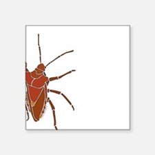 "Big Stink Bug Square Sticker 3"" x 3"""