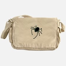 Hairy Black Spider Messenger Bag