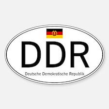 Car code DDR Sticker (Oval)