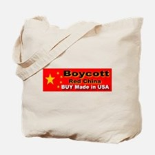 Boycott Red China Buy Made in Tote Bag