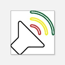 "Reggae Listen Square Sticker 3"" x 3"""
