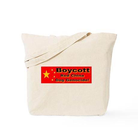 Boycott Red China Dog Genocid Tote Bag