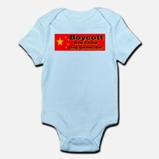 Boycott Red China Dog Genocid Infant Creeper