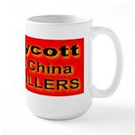 Boycott Red China K9 Killers Large Mug