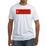 Boycott Red China K9 Killers Fitted T-Shirt