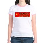 Boycott Red China K9 Killers Jr. Ringer T-Shirt