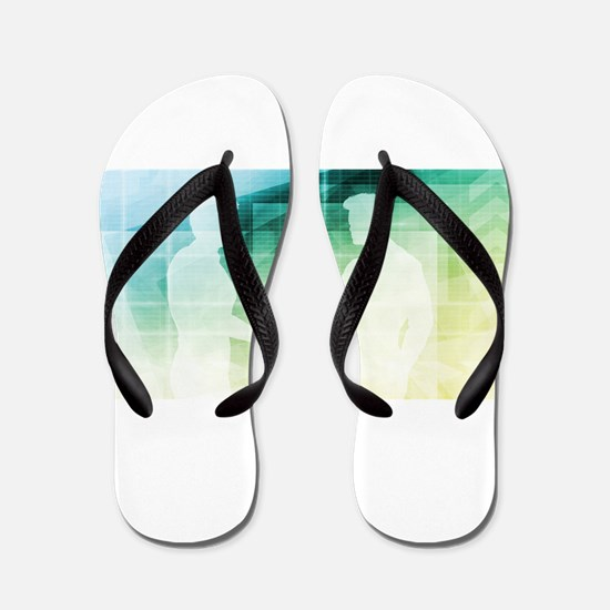 Silhouettes of Two Flip Flops