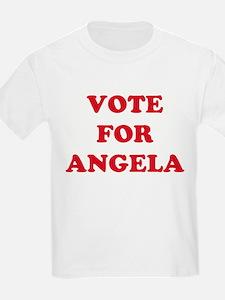 VOTE FOR ANGELA  Kids T-Shirt