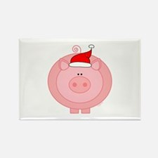 Holiday Pig Rectangle Magnet