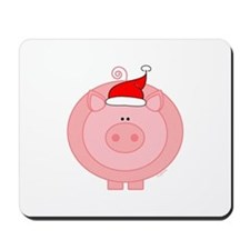 Holiday Pig Mousepad