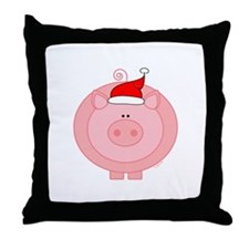 Holiday Pig Throw Pillow